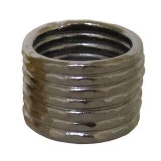 Bita Pourtavoosi Gunmetal Stuck Together Stacks Ring