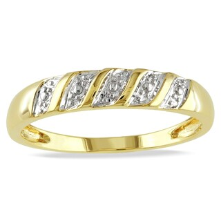 Miadora 10k Yellow Gold Men's Wedding Band Ring
