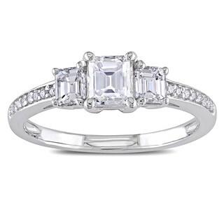 Miadora Signature Collection 14k White Gold 7/8ct TDW Emerald-cut Diamond Ring