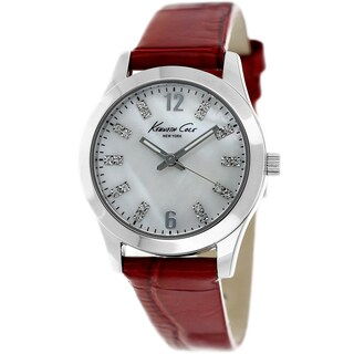 Kenneth Cole Women's 'New York' Red Leather Watch