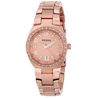 Fossil Women's AM4508 'Serena' Rose Goldtone Stainless Steel Watch|https://ak1.ostkcdn.com/images/products/8979132/P16186337.jpg?impolicy=medium
