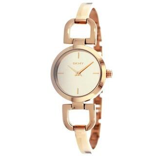 DKNY Women's NY8871 D-link Rose Goldtone Watch