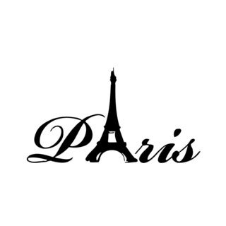 Paris France Eiffel Tower Vinyl Wall Art