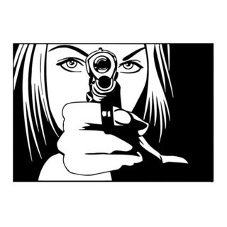 Shooting Girl Vinyl Wall Art
