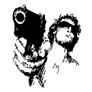 Shooting Man Vinyl Wall Art