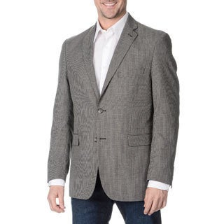 Adolfo Men's Black and White Houndstooth 2-button Blazer