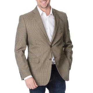Adolfo Men's Brown Houndstooth 2-button Blazer