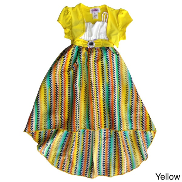 a9b7978550a9 Shop Toddler  Girls Colorful High-low Dress and Shrug Set - Free ...