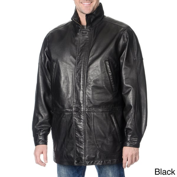 bbcca100f Shop WhetBlu Men's Mid-length Leather Jacket - Free Shipping Today ...
