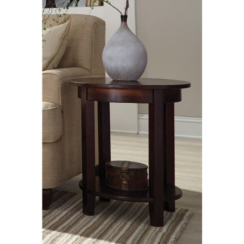 Copper Grove Daintree Round End Table with Shelf