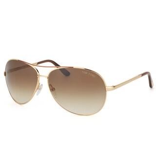 Tom Ford Unisex 'TF 35 Charles 772' Goldtone Metal Aviator Sunglasses
