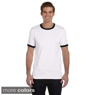 Canvas Men's Heather Ringer Jersey T-shirt