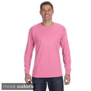Jerzees Men's 50/50 Heavyweight Blend Long Sleeve T-shirt|https://ak1.ostkcdn.com/images/products/8979247/Jerzees-Mens-50-50-Heavyweight-Blend-Long-Sleeve-T-shirt-P16186426.jpg?impolicy=medium