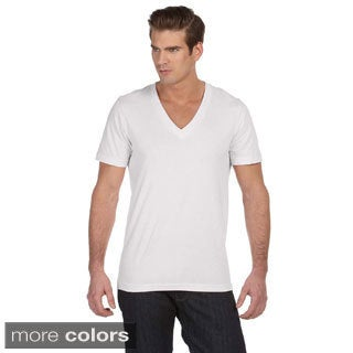 Canvas Men's Jersey Deep V-neck T-shirt