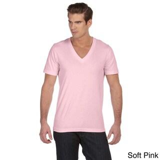 Canvas Men's Jersey Deep V-neck T-shirt