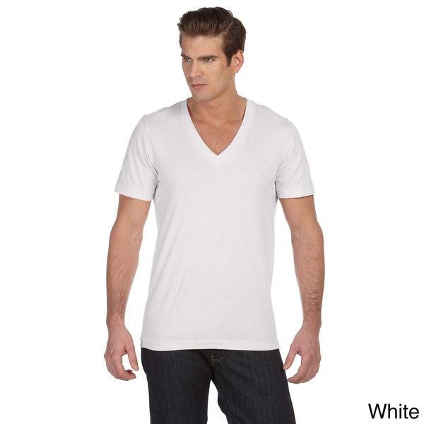 Deep V Neck T Shirt Mens