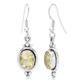 Sterling Silver Lemon Quartz Earrings