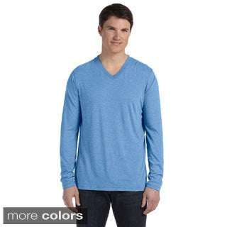 Bella Men's Triblend Long Sleeve V-Neck T-Shirt (More options available)
