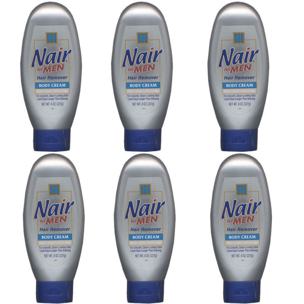 Shop Nair For Men Hair Remover 8 Ounce Cream Pack Of 6