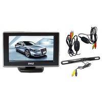 Pyle 4.3-inch Monitor Wireless Back-up Rearview and License Plate Camera System