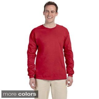 Jerzees Men's 'HiDENSI-T' Long Sleeve Solid T-Shirt (3 options available)