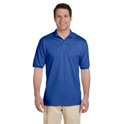 b7fbc67307f Jerzees Men's 50/50 SpotShield Cotton and Polyester Jersey Polo Shirt