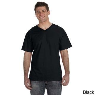 Fruit of the Loom Men's Heavyweight Cotton V-neck T-shirt