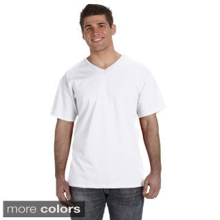 Fruit of the Loom Men's Heavyweight Cotton V-neck T-shirt