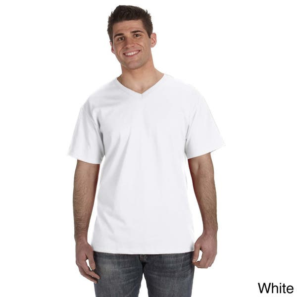 Fruit Of The Loom Men S Heavyweight Cotton V Neck T Shirt On Sale Overstock 8979366