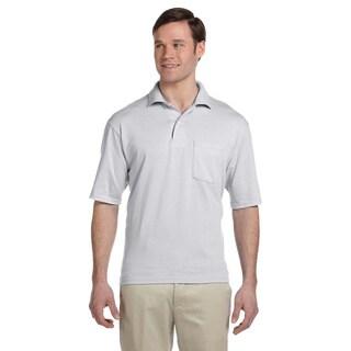 Jerzees Men's Clean-finished Pocket Polo Sport Jersey (Option: Black)