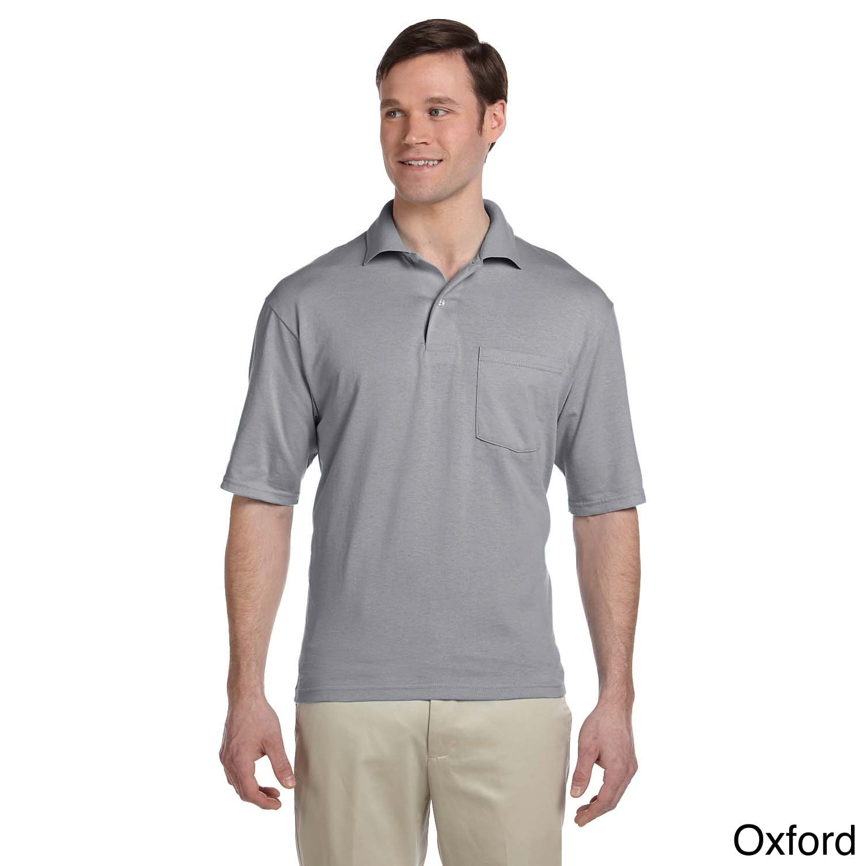 Jerzees Men's Clean-finished Pocket Polo Sport Jersey (4X...