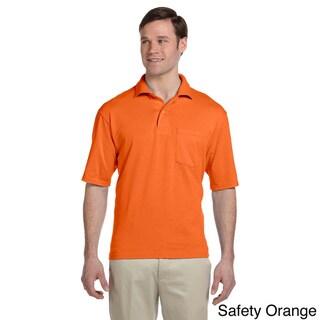 Jerzees Men's Clean-finished Pocket Polo Sport Jersey