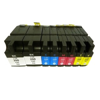 8-pack (2K/2C/2M/2Y) Compatible Lexmark 200 XL Ink Cartridge 14L0174 14L0175 14L0176 14L0177