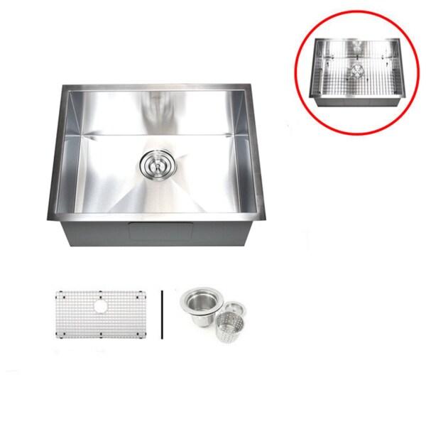 Kitchen Sink Accessories Basket 26-inch single bowl undermount zero radius kitchen sink basket