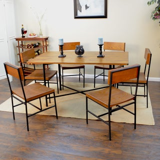 Large Lakeland Metal and Wood Dining Table