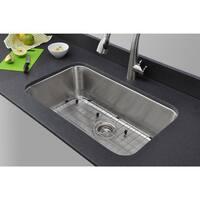 Wells Sinkware Craftsmen Series 30-inch 18-gauge Undermount Single Bowl Stainless Steel Kitchen Sink Package