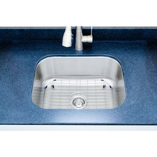 Wells Sinkware 23-inch Undermount Single Bowl 16-gauge Stainless Steel Kitchen Sink Package