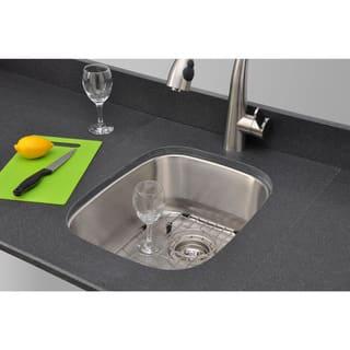 Wells Sinkware Craftsmen Series 15-inch 18-gauge Undermount Single Bowl Stainless Steel Kitchen Sink Package