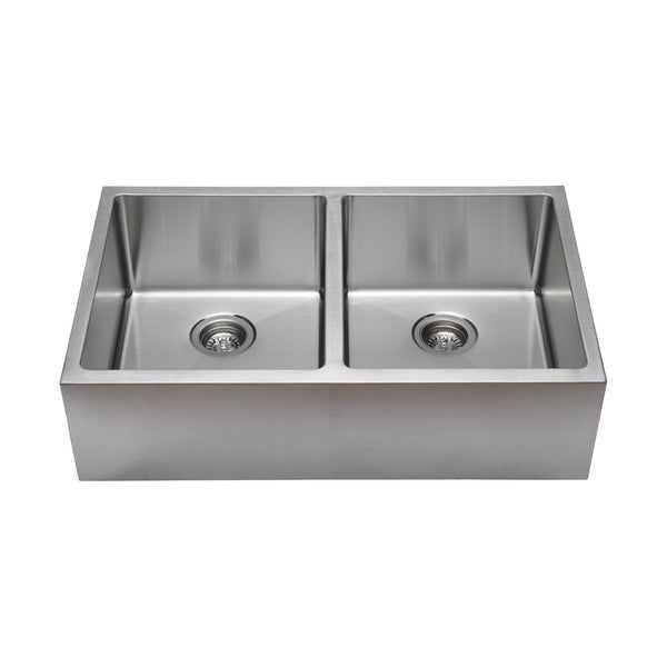 Grades Of Stainless Steel Sinks : Commercial Grade Undermount 50/50 Double Bowl 16-gauge Stainless Steel ...
