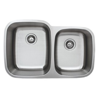 Wells Sinkware 32-inch Undermount 60/40 Double Bowl 18-gauge Stainless Steel Kitchen Sink