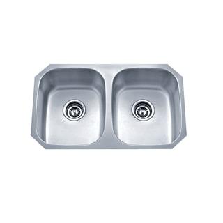 Wells Sinkware 18-gauge Undermount Double Bowl Stainless Steel Kitchen Sink Package