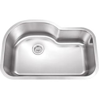 Wells Sinkware 32-inch Undermount Single Bowl 18-gauge Stainless Steel Kitchen Sink Package