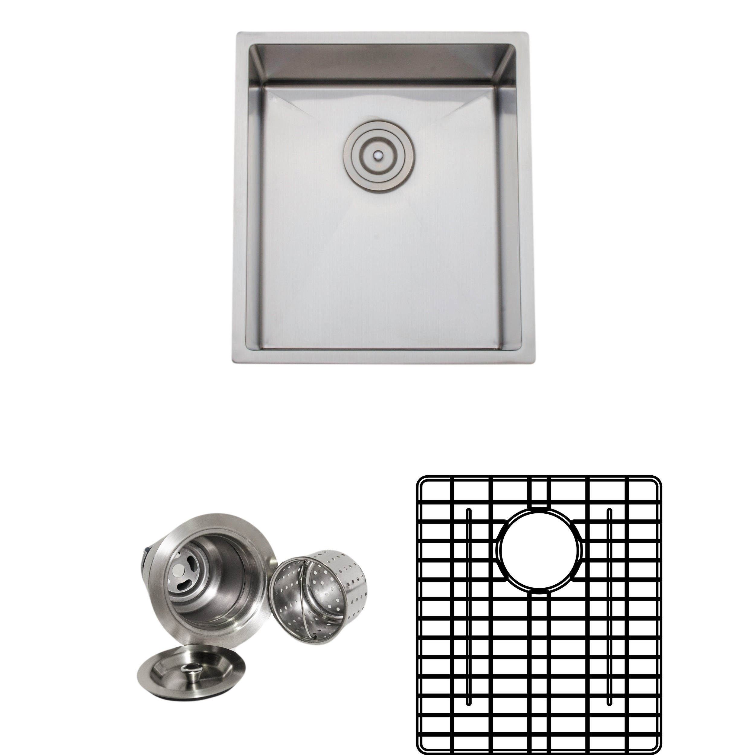Wells 16-inch Undermount Single Bowl 18-gauge Stainless S...