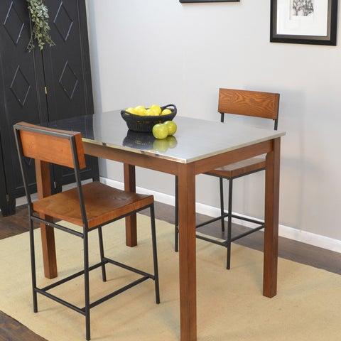 Carbon Loft Newton Stainless Steel Top Bar Table
