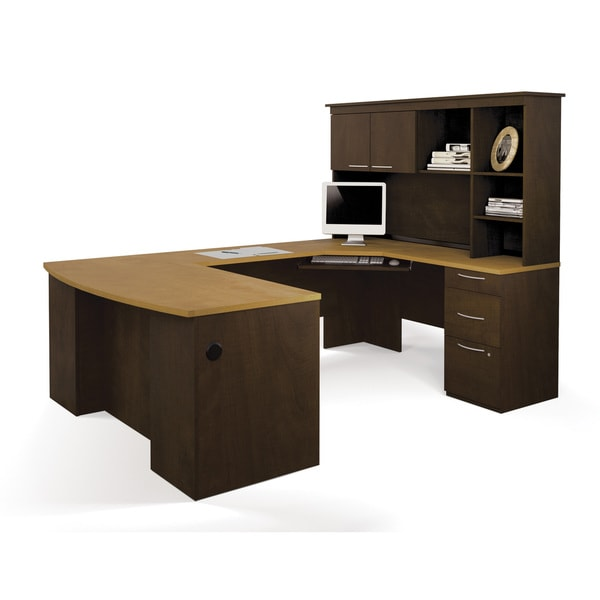 Bestar Hatley U Shaped Workstation Desk Free Shipping