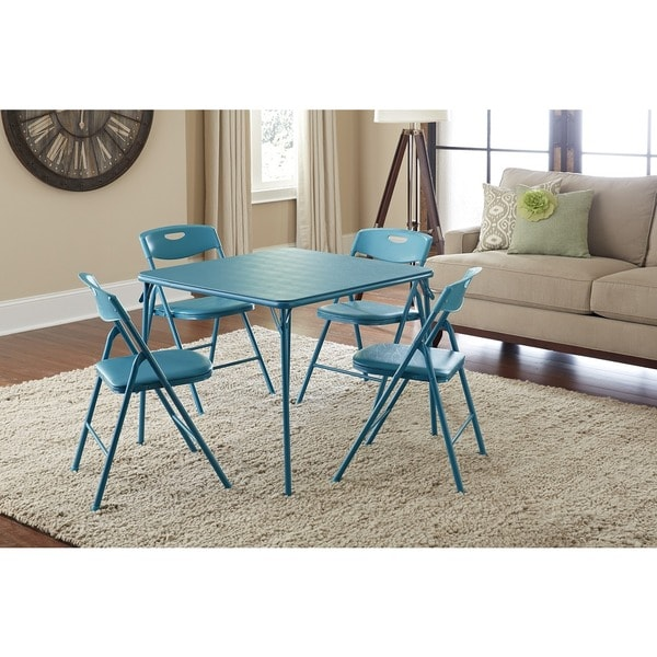 The Curated Nomad Hillard 5-piece Folding Table and Chairs Set  sc 1 st  Overstock.com & Shop The Curated Nomad Hillard 5-piece Folding Table and Chairs Set ...
