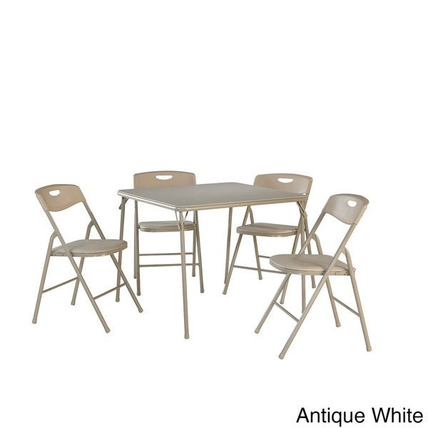 Elegant Cosco 5 Piece Folding Table And Chairs Set   Free Shipping Today    Overstock.com   16186900