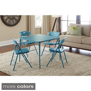 Cosco 5-piece Folding Table and Chairs Set  sc 1 st  Overstock & Merry Products Round 5-piece Outdoor Folding Table Set - Free ...