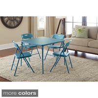 The Curated Nomad Hillard 5-piece Folding Table and Chairs Set