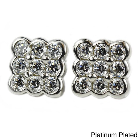 Sonia Bitton Sterling Silver Cubic Zirconia Stud Earrings